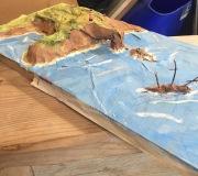 Papier mache island 1 small
