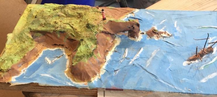 papier mache island 3 small