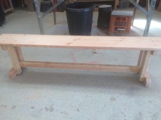 Sandy bench