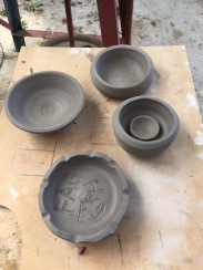 clay pots 5 small