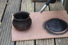 Blowtorching a pot 3 - small