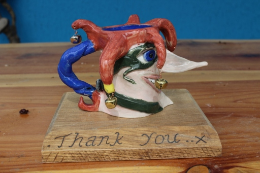Toby jug thank you small