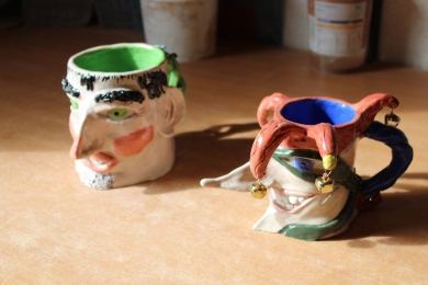 Two toby jugs small