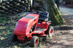 red lawn mower small