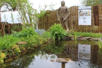 Transformation man and pond